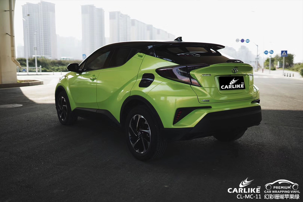 CARLIKE卡莱克™CL-MC-11本田幻彩珊瑚苹果绿车身贴膜