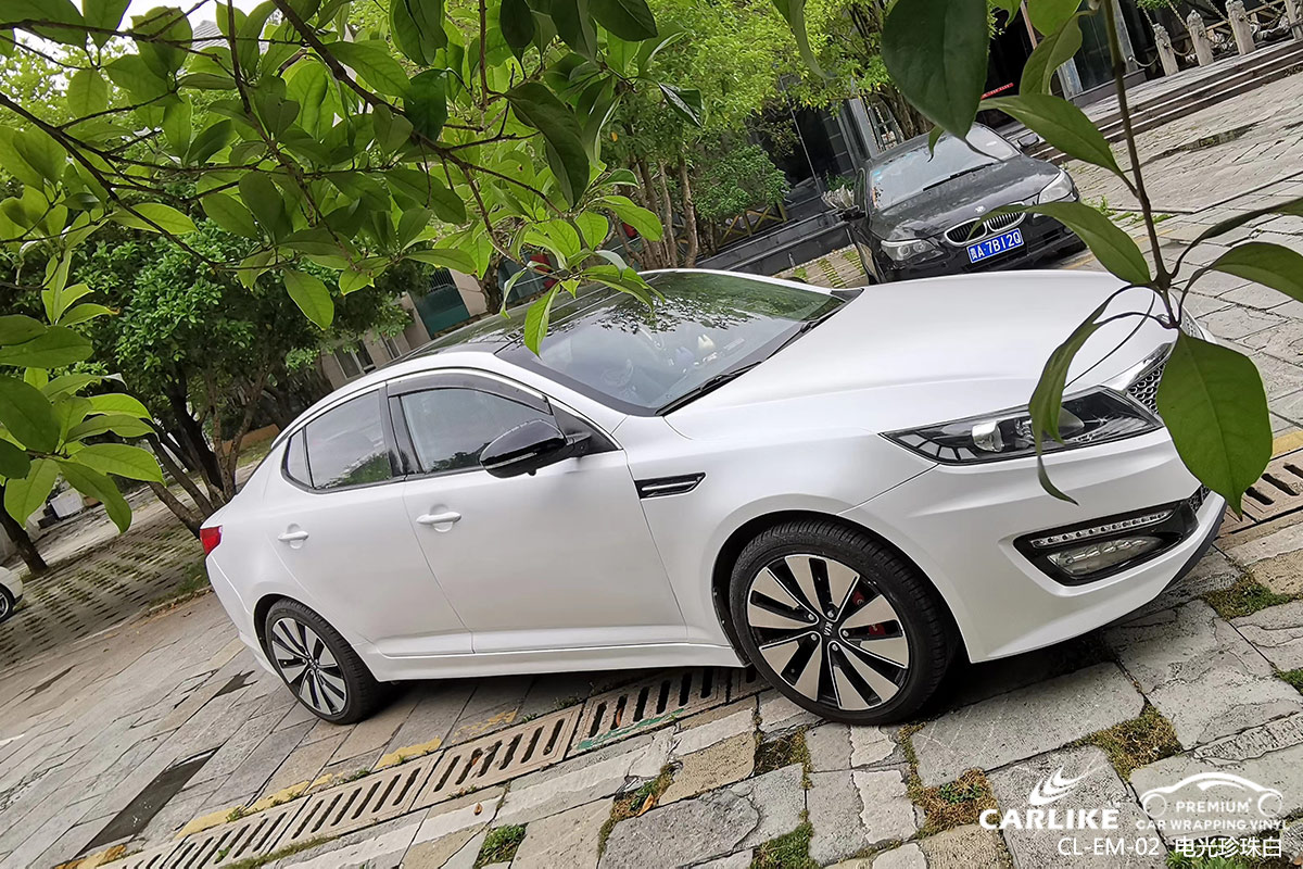 龙岩起亚K5全车改色电光珍珠白汽车贴膜效果图