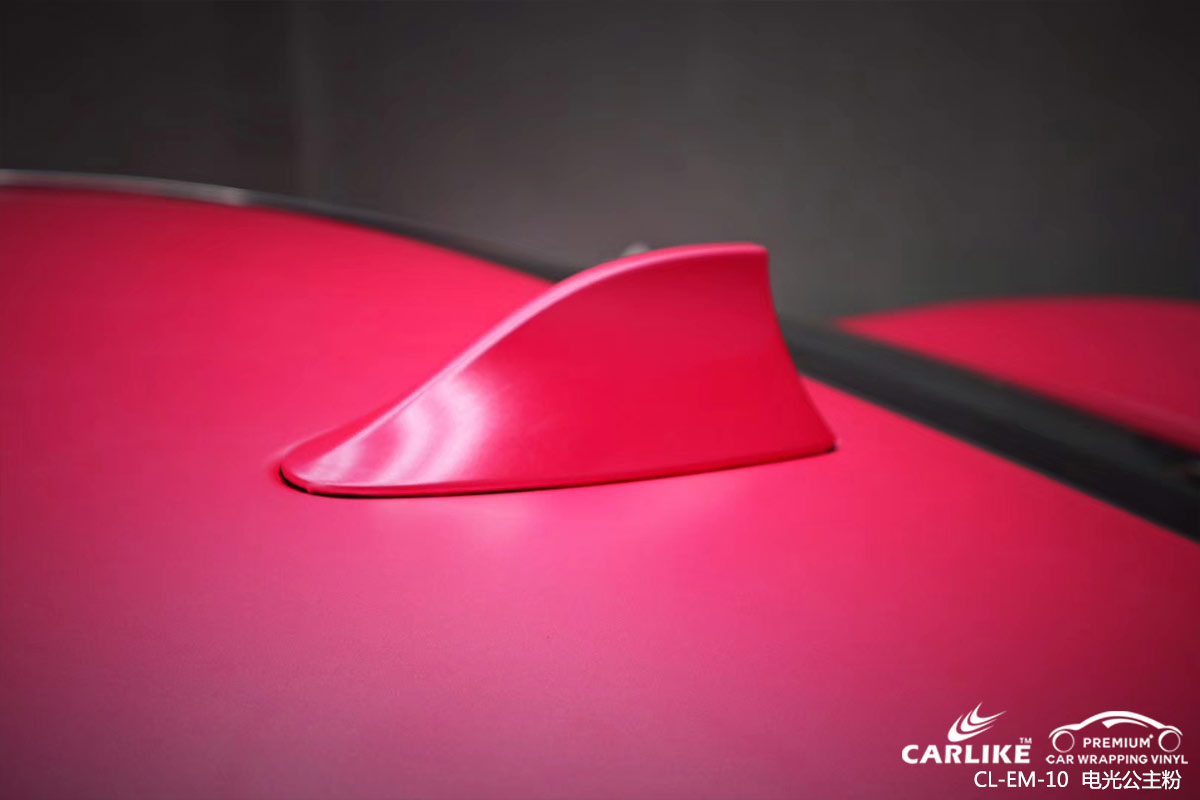 洛阳宝马7系整车改色电光公主粉车身贴膜效果图