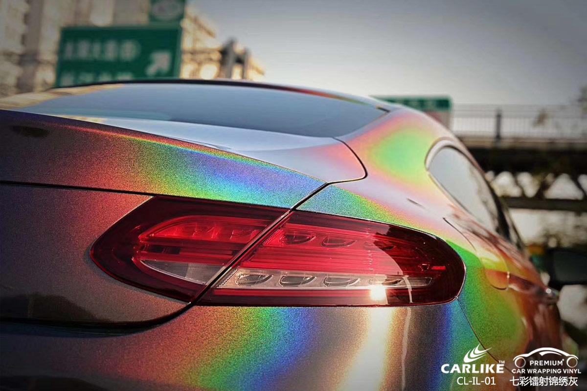 CARLIKE卡莱克™CL-IL-01奔驰七彩镭射锦绣灰车身贴膜