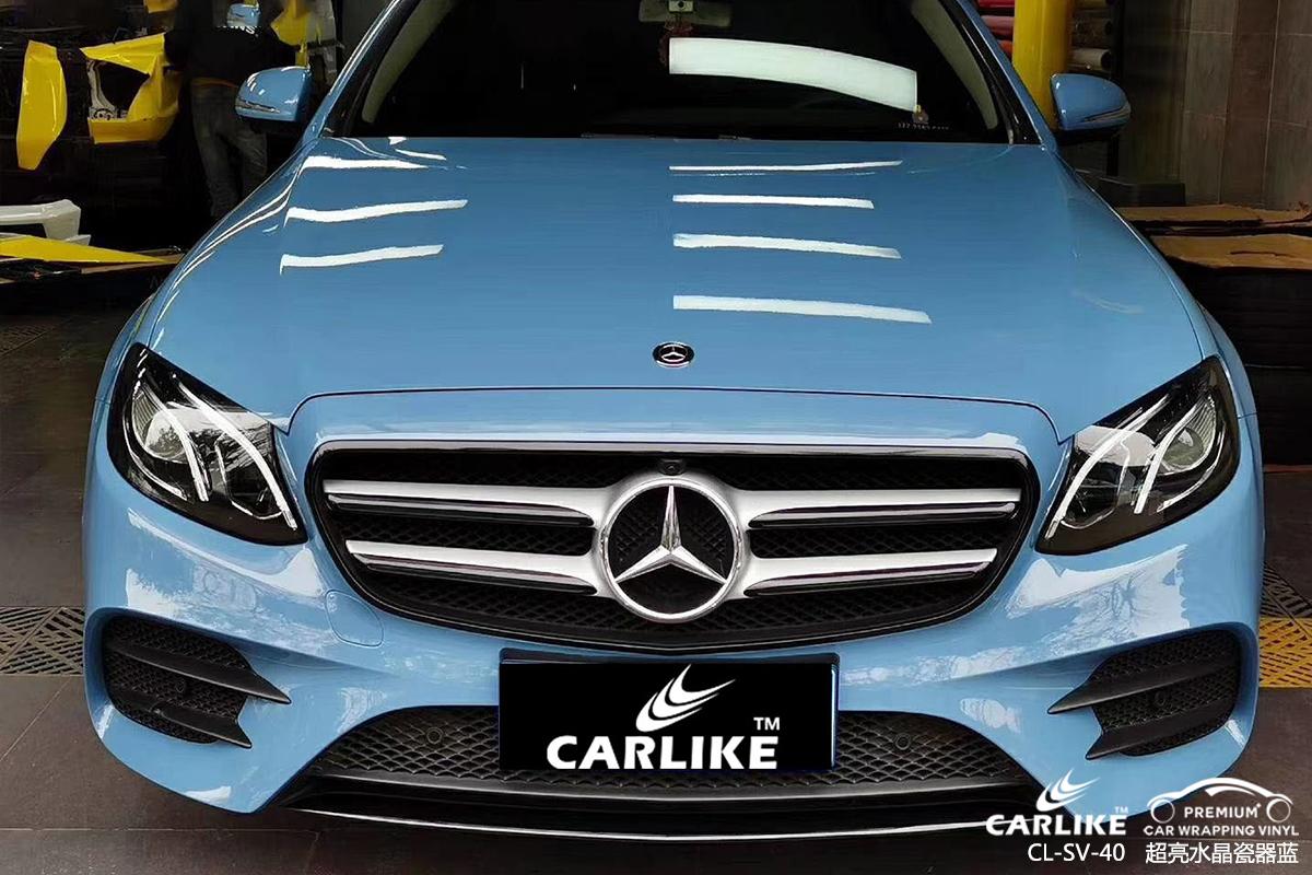 CARLIKE卡莱克™CL-EM-01凯迪拉克电光绸缎黑车身贴膜