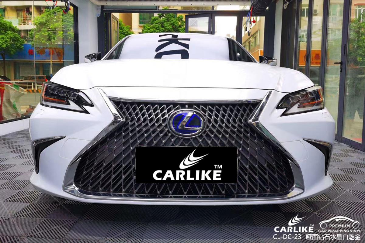 黄冈雷克萨斯GS车身改色哑面钻石水晶白魅金汽车贴膜效果图