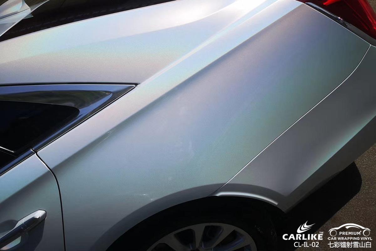 CARLIKE卡莱克™CL-IL-02凯迪拉克七彩镭射雪山白汽车改色