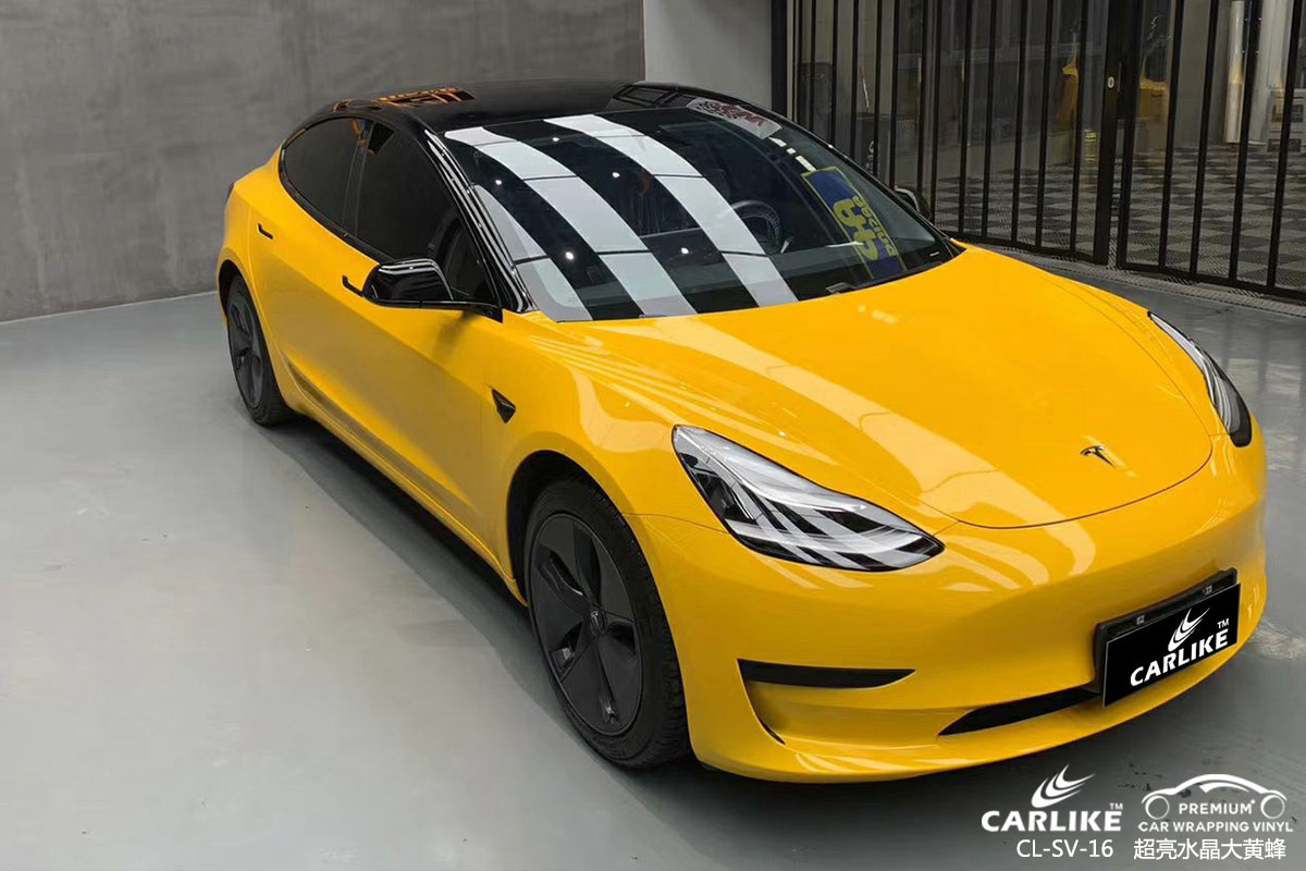 CARLIKE卡莱克™CL-SV-16特斯拉超亮水晶大黄蜂汽车贴膜