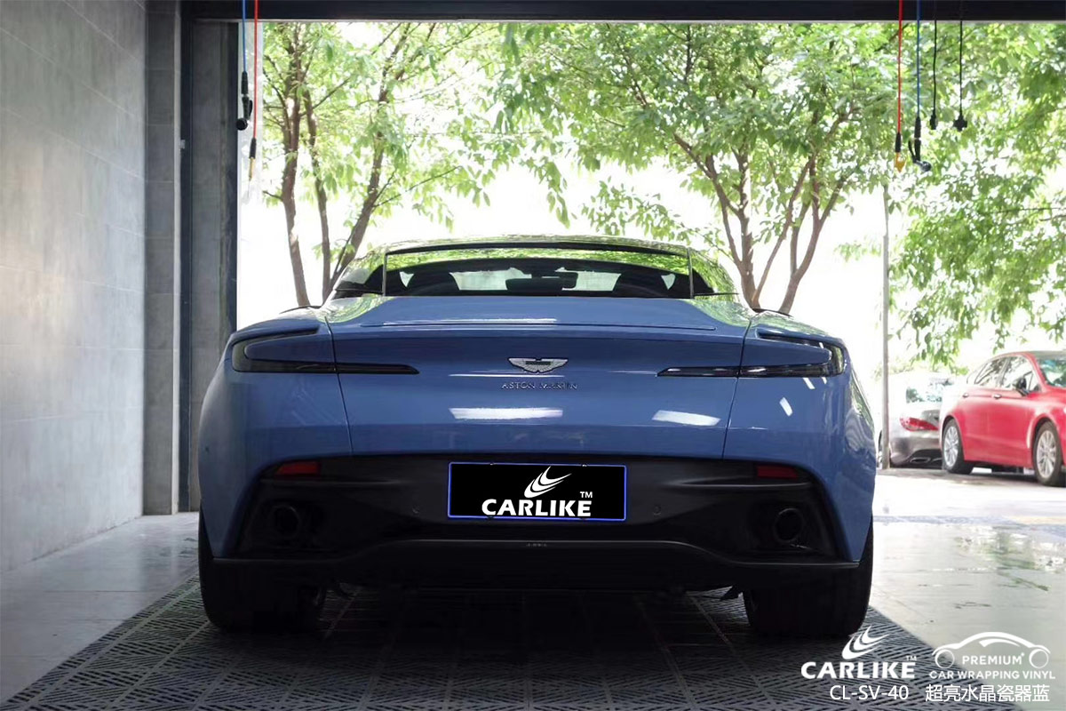 CARLIKE卡莱克™CL-SV-40阿斯顿马丁超亮水晶瓷器蓝汽车贴膜