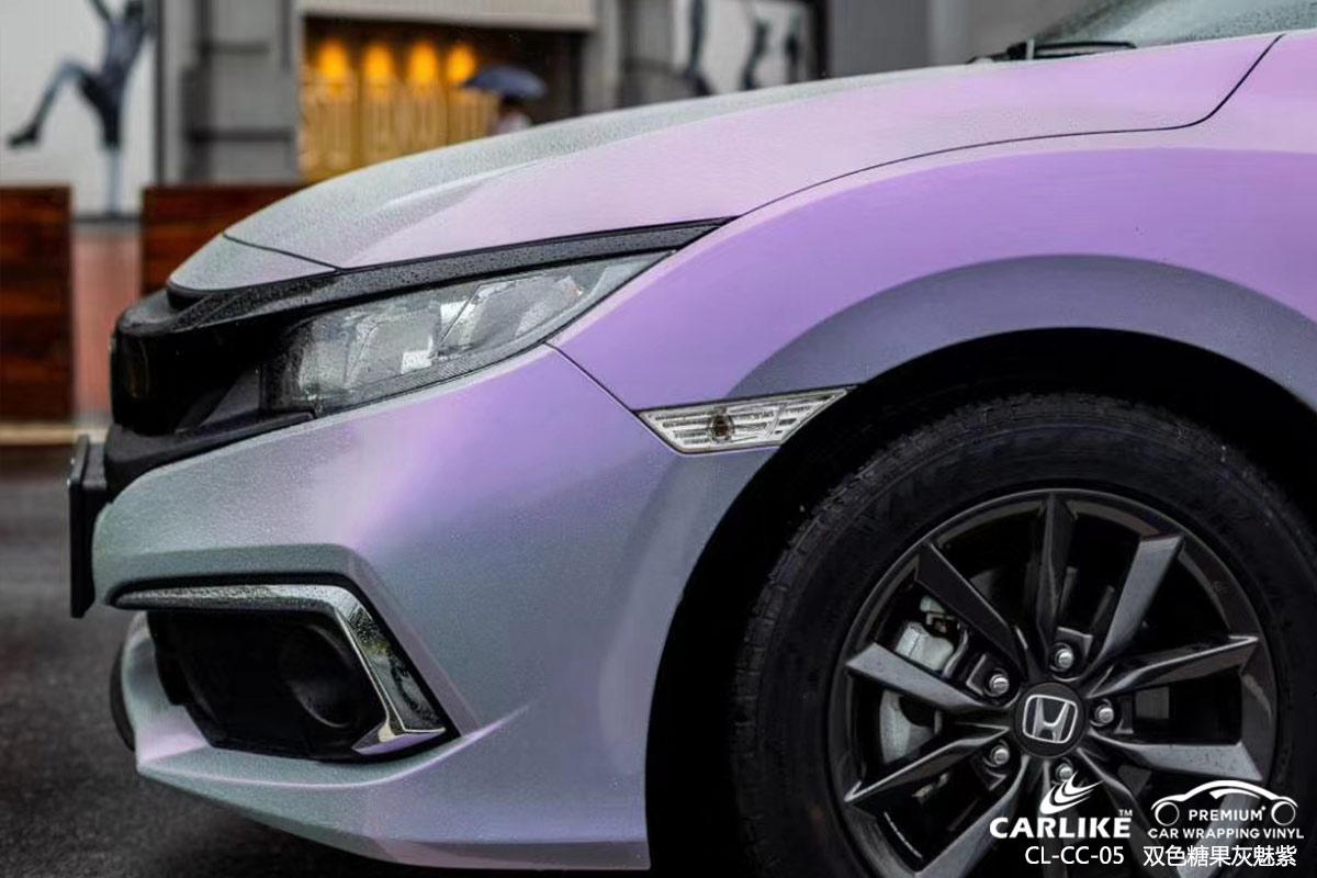 聊城奥迪汽车改色超亮水晶典雅黑车身贴膜效果图