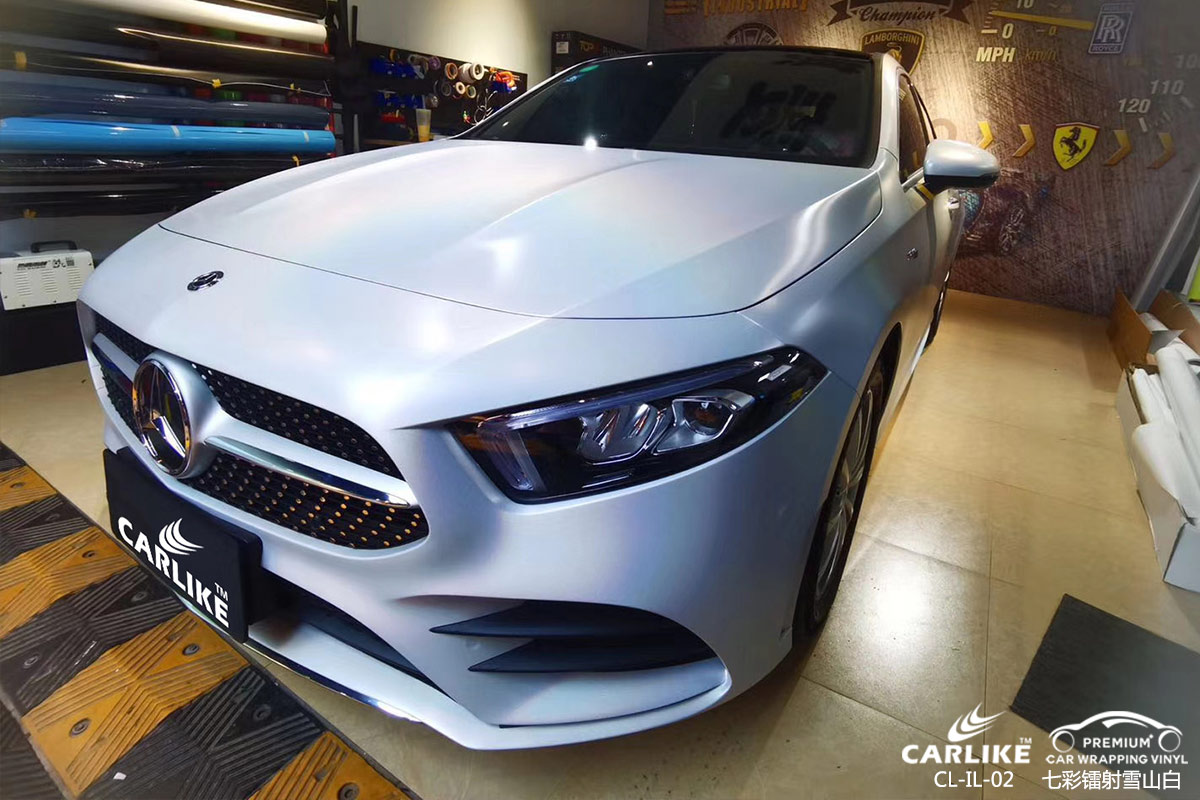 CARLIKE卡莱克™CL-IL-02奔驰七彩镭射白汽车贴膜