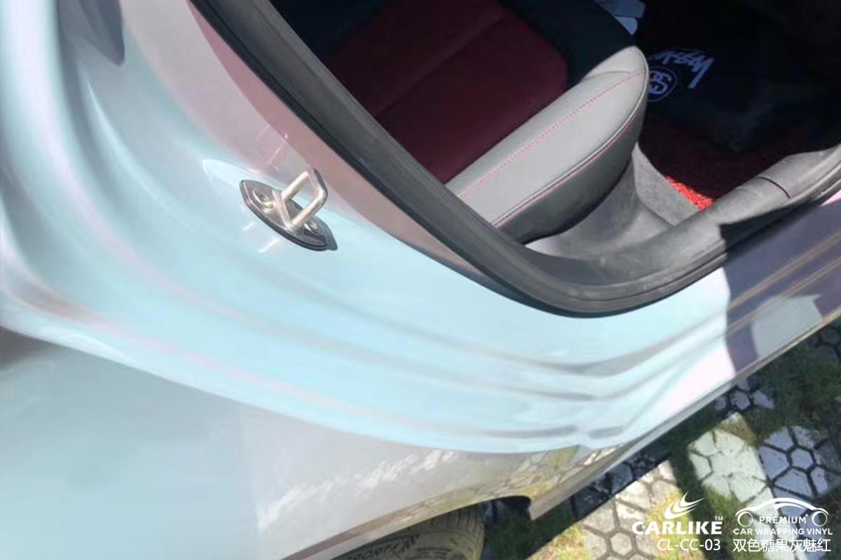 漯河奥迪全车改色双色糖果灰魅红汽车贴膜效果图