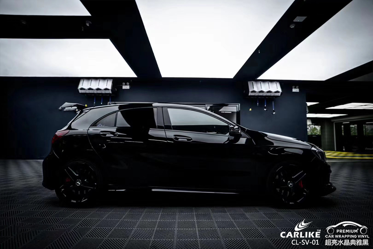 CARLIKE卡莱克™CL-SV-01奔驰超亮水晶典雅黑汽车贴膜