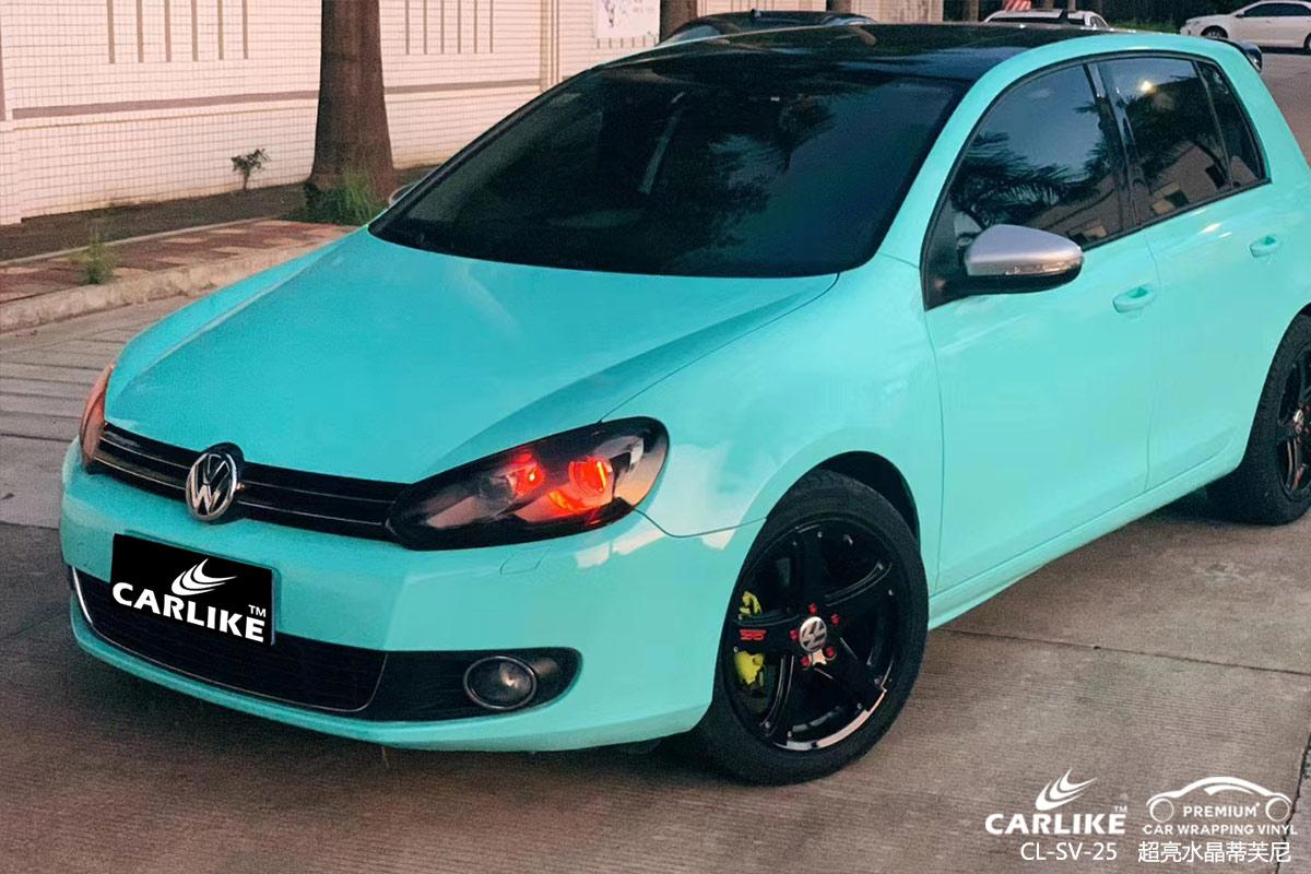淮北大众高尔夫(Golf)车身改色超亮水晶蒂芙尼汽车贴膜效果图