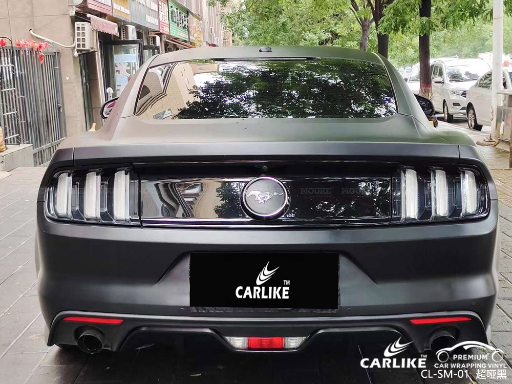 CARLIKE卡莱克™CL-SM-01野马超哑黑全车贴膜