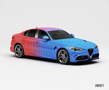 CARLIKE卡莱克™CL-JB-001阿尔法蓝红双色渐变整车改色